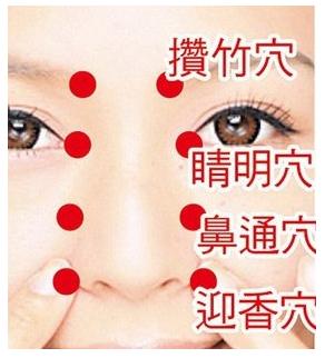 过敏性鼻炎穴位按摩